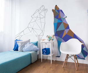 animals, geometry, and home decor image