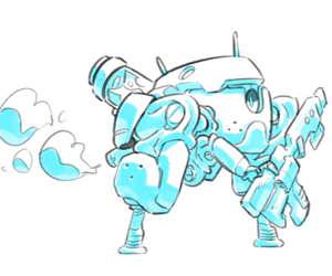 line, robot, and sketches image