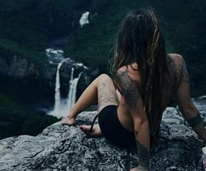 hippie, hippie girl, and tattoo image
