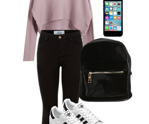 outfit, adidas, and Polyvore image