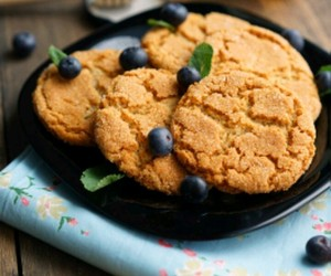 autumn, Cookies, and blueberries image