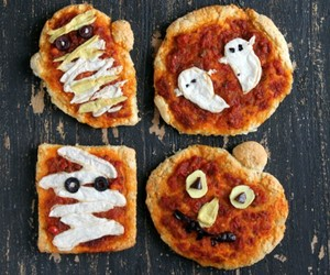Halloween, pizza, and ghost image