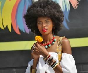 beautiful hair, black women, and fashion image