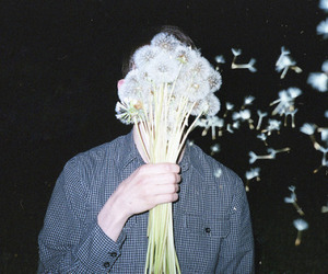 grunge, flowers, and boy image