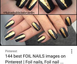 black, elegant, and gold image