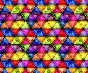 triangles, wallpaper, and colorful wallpaper image