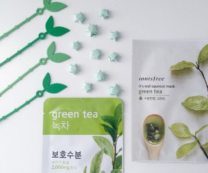 mask, aesthetic, and green tea image