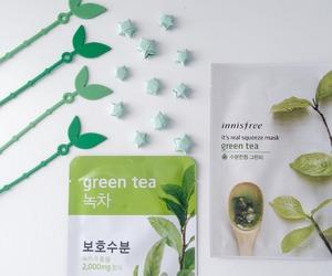 mask, aesthetic, and green tea image