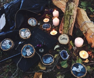art, candles, and crystal image