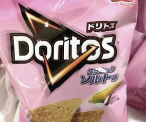 pink, doritos, and food image