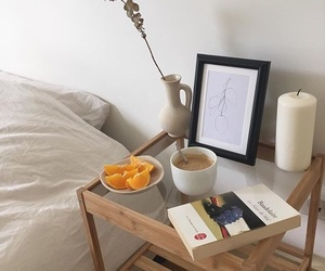 bedroom, coffee, and orange image
