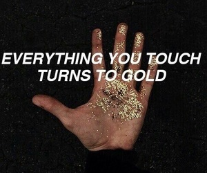 gold, imagine dragons, and quotes image