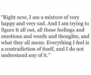 happy, sad, and quotes image