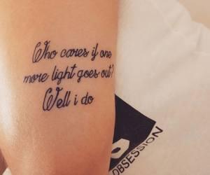 Lyrics, tattoo, and linkin park image