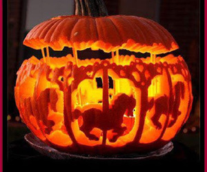 Halloween, pumpkin, and horse image