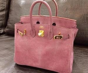 bag, pink, and hermes image