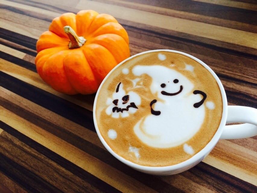 pumpkin, Halloween, and coffee image