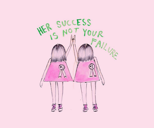 feminism, header, and pink image
