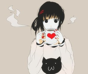 anime, kawaii, and coffee image