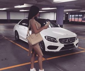 girl, car, and fashion image