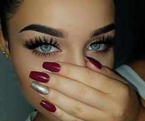 eyes, beauty, and nails image