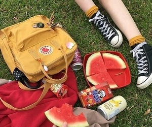 aesthetic, picnic, and yellow image