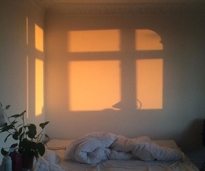 bedroom, room, and sun image