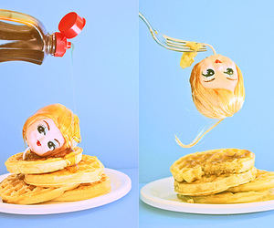 blond, breakfast, and doll image