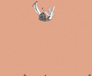 art, fall, and falling image