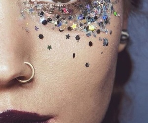 beautiful, sparkles, and eyebrows image