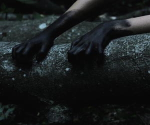 black, hands, and dark image