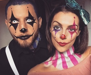 makeup, couple, and Halloween image