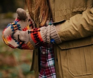 autumn, fall, and gloves image