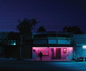 grunge, night, and pink image