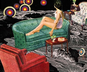 space, Collage, and vintage image