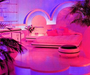 pink, pink bedrooms, and pink bedroom image