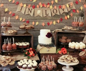 autumn, fall, and wedding image