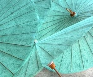 umbrella, aqua, and blue image