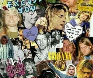 nirvana, kurt cobain, and Collage image