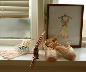 ballet, pink, and ballet shoes image