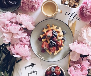 coffee, eat, and flowers image