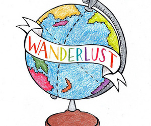 wanderlust, drawing, and travel image
