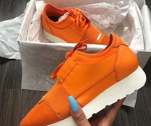 shoes, orange, and Balenciaga image