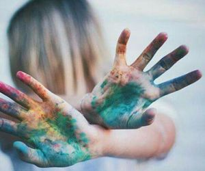 girl, art, and colors image