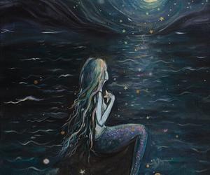 mermaid and moon image