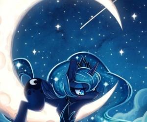 MLP, luna, and moon image