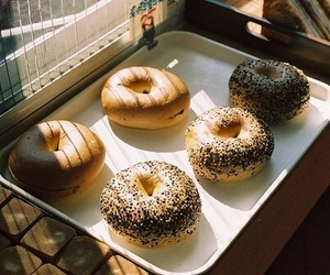 food, donuts, and vintage image