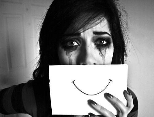 sad, smile, and cry image