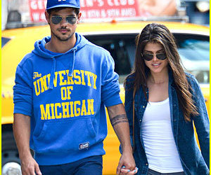 Taylor Lautner and marie avgeropoulos image