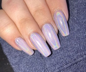 color, purple, and nails image